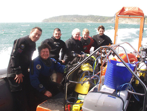 The In2scuba Dive Club having a great weekends diving at Swanage!