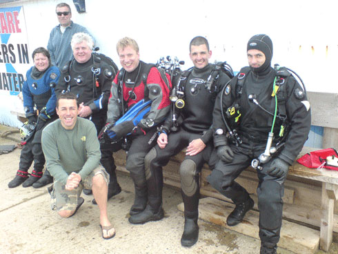 In2scuba Dive Club members on our Dive Dorset Weekend at Swanage May 2009!