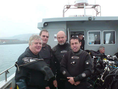 In2scuba Dive Club members dive SS Strathclyde at Dover!