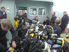 A full boat for the dive!