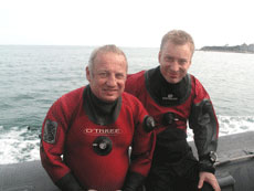 Keith & Tom on Swanage diver!