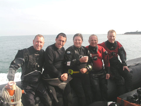 In2scuba Dive Club on our Dive Dorset weekend September 2009!