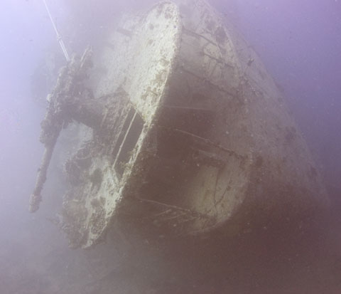 The stern of the Thistlegorm