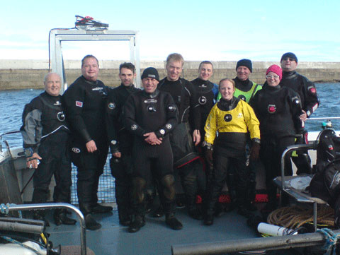 In2scuba Dive Club on our Farne Island trip October 2009!